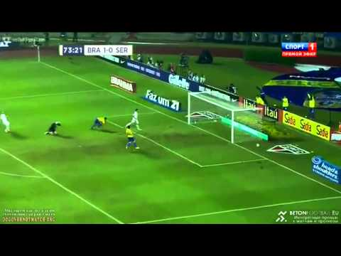 Hulk disallowed goal Neymar assist -  Brazil vs Serbia - Friendly 06/06/14, HD