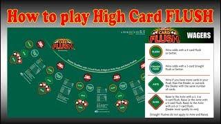 HIGH CARD FLUSH TUTORIAL How to play.