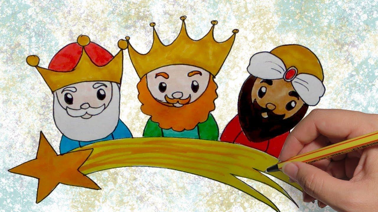Dibujos Kawaii De Navidad Reyes Magos