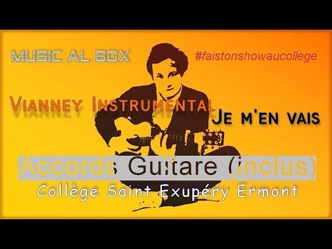 Vianney Je m'en vais Instrumental en La min (+accords guitare)#faistonshowaucollège