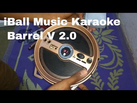 IBall Music Karaoke Barrel V 2.0 Bluetooth Portable Speaker Unboxing