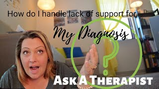 Ask a Therapist: Sharing your Diagnosis