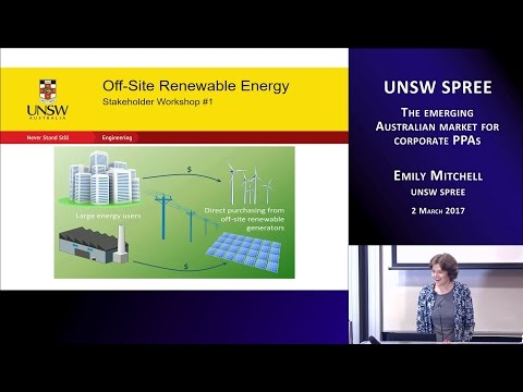 UNSW SPREE 201703-02 Emily Mitchell - The emerging Australian market for corporate PPAs