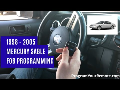 How To Program A Mercury Sable Remote Key Fob 1998 - 2005