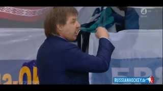 ZNAROK vs. GRÖNBORG (Beef during the Ice Hockey Match Sweden - Russia) Gronborg