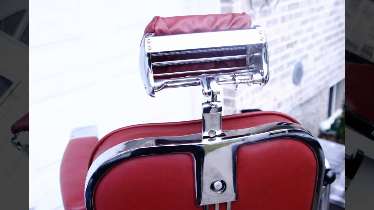 1950s Theo A Kochs Antique Barber Chair  YouTube