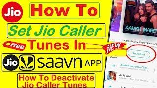 How to set jio caller tune in jio saavn & How to deactivate jio caller tune thumbnail