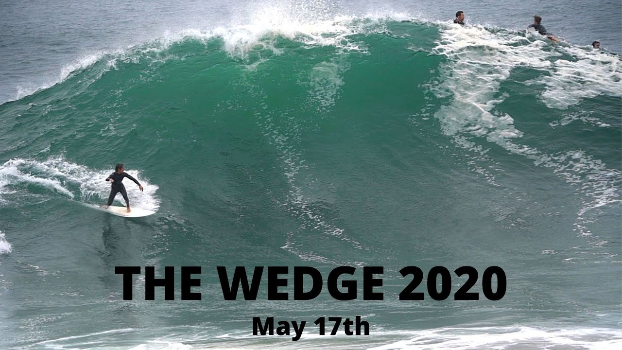 The WEDGE | HUGE SHOREBREAK BARRELS | May 17th 2020 | Raw