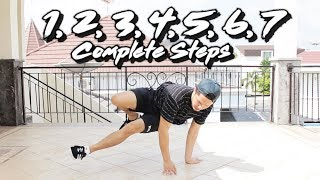How to 1 - 7 Steps I COMPLETE Breakdance Footwork Tutorial