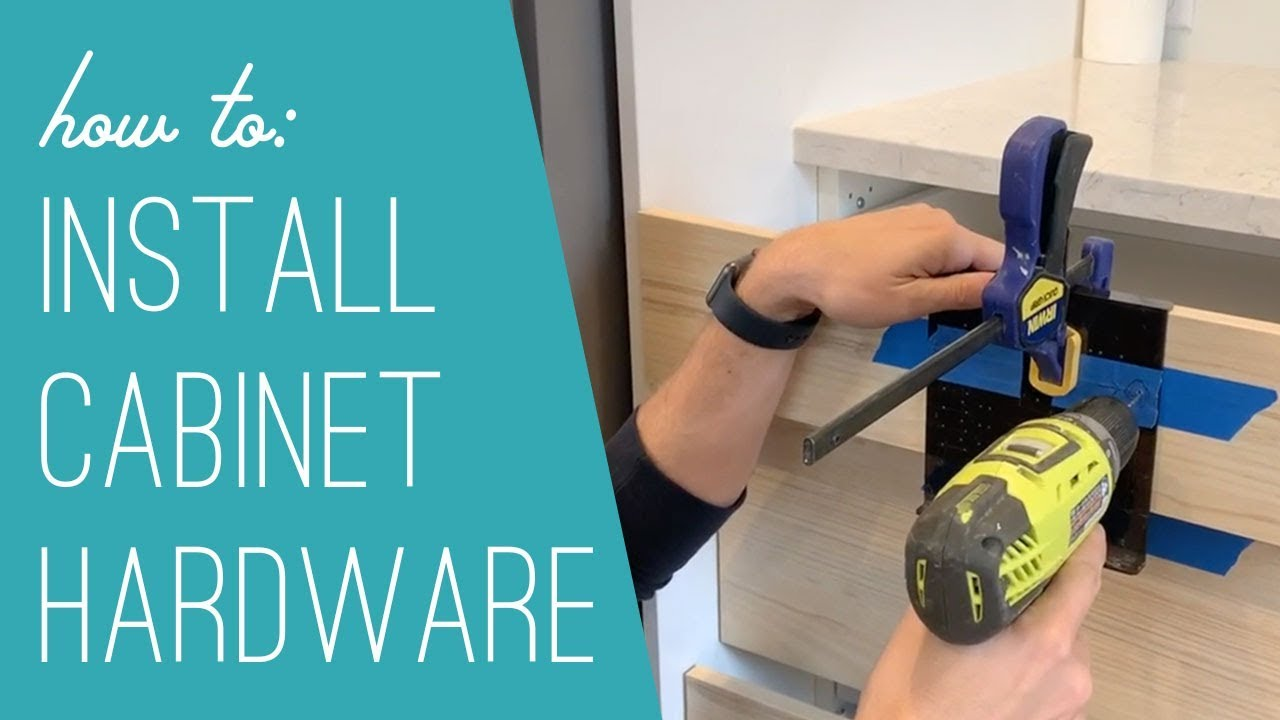 How To Install Kitchen Cabinet Hardware - YouTube