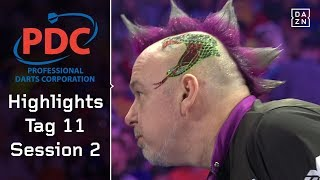 Peter Wright raus, Michael van Gerwen im Viertelfinale | Highlights | PDC Darts WM 2018 | DAZN
