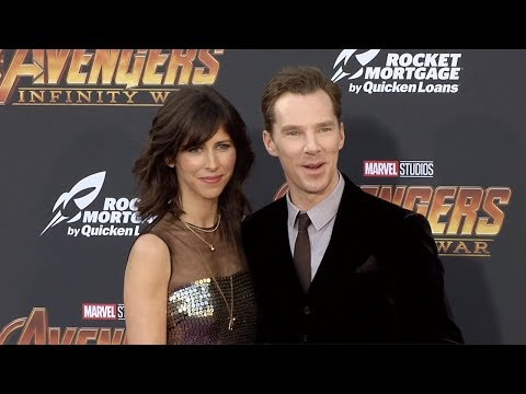 "Benedict Cumberbatch and Sophie Hunter ""Avengers: Infinity War"" World Premiere Purple Carpet"