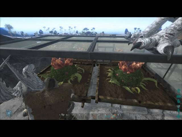 Ark: Survival Evolved Testing greenhouse Glass with Plant Species X Turrets
