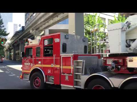 Fire engines in Seattle
