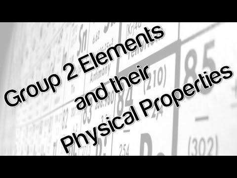 Group 2 elements and their physical properties