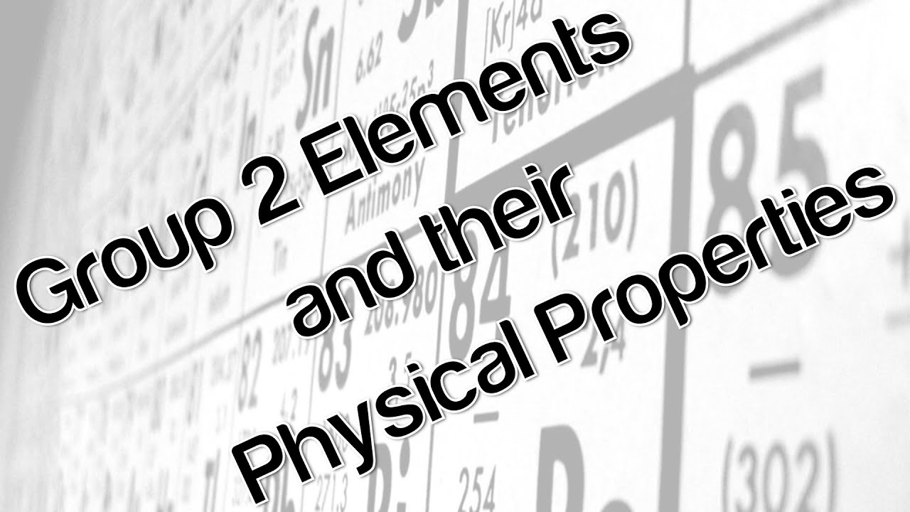 Group 2 elements and their physical properties youtube urtaz Gallery