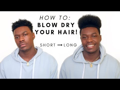 SHORT to LONG hair REAL QUICK!! | BLOW DRY YOUR HAIR TO MAKE IT LONGER!