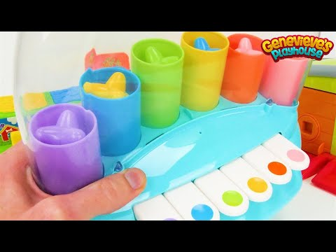 Teach Toddlers Colors, Counting, and Animal Names with three Preschool Toys!