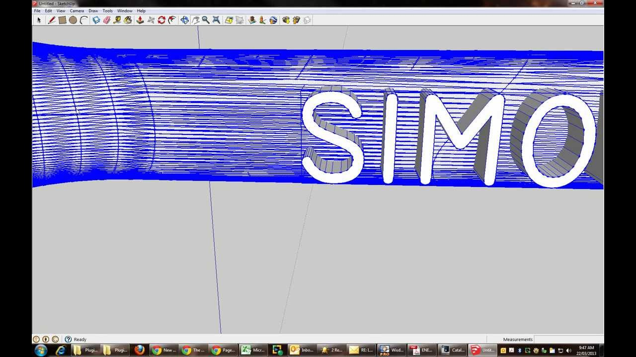 Importing stl file to sketchup and adding 3d text youtube for Sketchup import stl