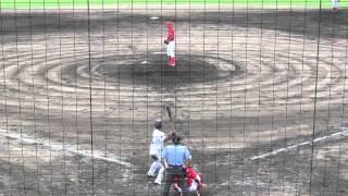 2012年7月7日、高槻萩谷総合運動公園野球場、ウエスタンリーグオリックス戦。 8回2死1、3塁から登板の岸本、荒金を三振に切って取る。 9回もきっちり三人で仕留める。