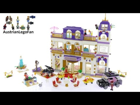 Lego Friends 41101 Heartlake Grand Hotel - Lego Speed Build Review thumbnail