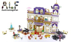 Lego Friends 41101 Heartlake Grand Hotel Lego Speed Build Review Youtube