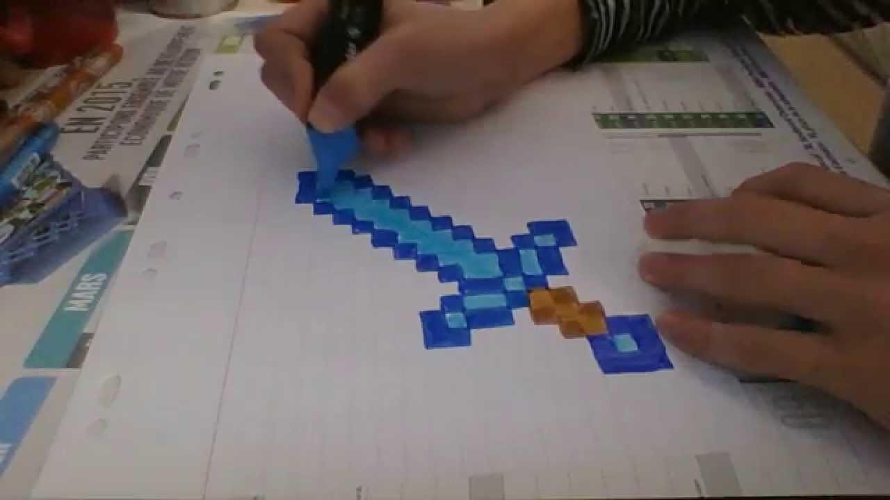 Dessin Minecraft Episode 3 La Pioche En Diamant By