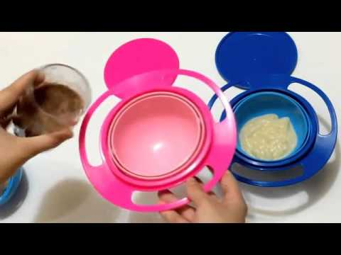 Toy Universal 360 Rotate Spill Proof Bowl Youtube