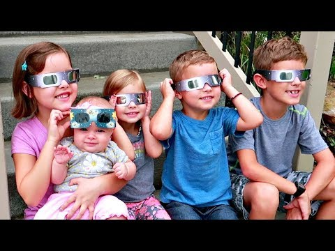 😳5 KIDS REACT to SOLAR ECLIPSE🌒