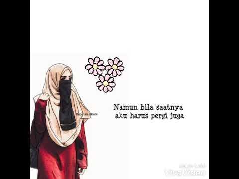 Lirik lagu hijrah cinta dengan kartun muslimah