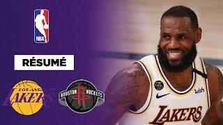 Résumé NBA VF : Avec LeBron et Rondo, les Lakers prennent l'avantage face aux Rockets !