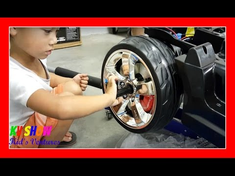 Unboxing And Assembling The Power Wheel Ride On Kid Trax Dodge Police Car 12 Volt!
