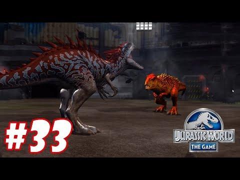 Indominus vs Tyrannosaurus Rex : Trò chơi nuôi khủng long đánh nhau - Jurassic World The Game #33