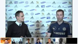Petr Cech hangs out with fans