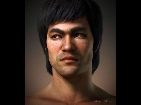 Making Of, a Bruce Lee portrait (3D character)