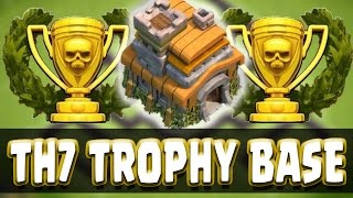 """Clash Of Clans - """"epic"""" Town Hall 7 Trophy Base/ Th7 War Base Speed Build"""