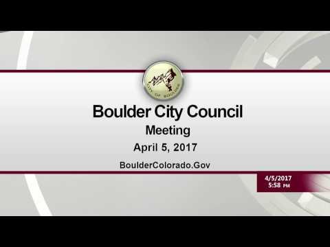 Boulder City Council Study Session 04-05-17
