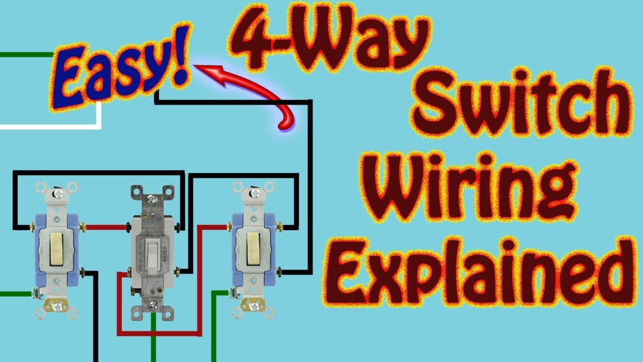 400 Way Switch Explained How to Wire a 400 Way Switch to Control a Single Light  Fixture W\ 40 Switches