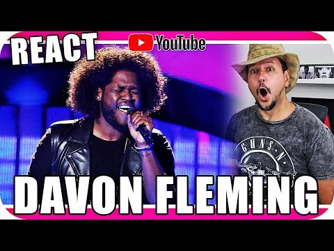 DAVON FLEMING THE VOICE USA - Marcio Guerra Canto Reagindo Musica React Jennifer Hudson