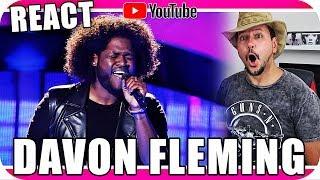 DAVON FLEMING THE VOICE USA - Marcio Guerra Canto Reagindo Musica React Jennifer Hudson