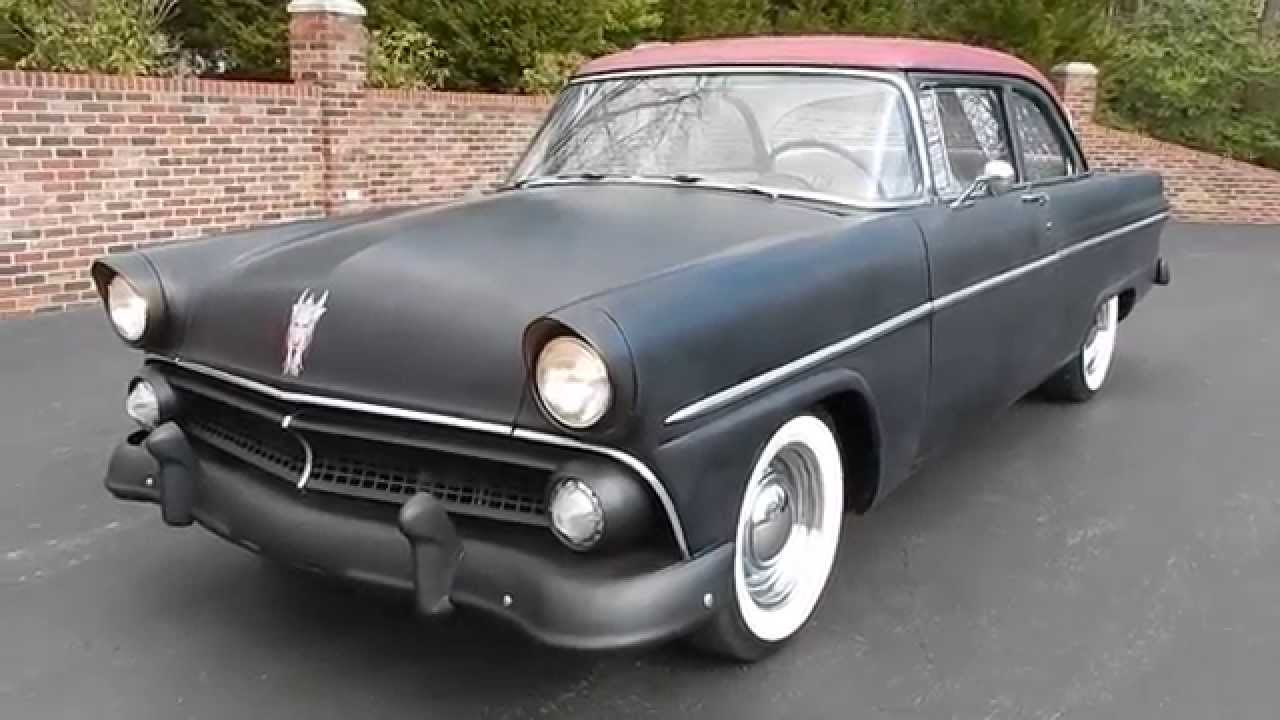 1955 Ford Customline Sedan for sale Old Town Automobile in MD - YouTube