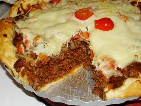 "Chicago-""STYLE"" Deep-Dish Pizza"