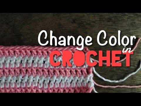 วิธีเปลี่ยนสีและต่อไหมพรมงานถักโครเชต์ 2/2