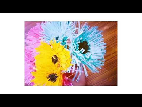 #DIY #paper flowers #Easy to make 😍