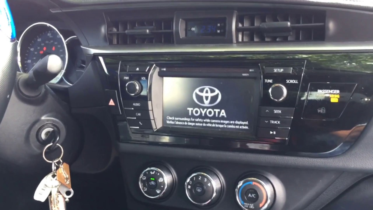 2014 Toyota Corolla L   How To Remove Stock Radio And