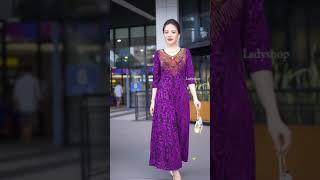 Đầm trung niên siêu đẹp TK491 - 590.000đ