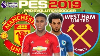 Man Utd vs West Ham Prediction | English Premier League 13th Apr | PES 2019 Gameplay