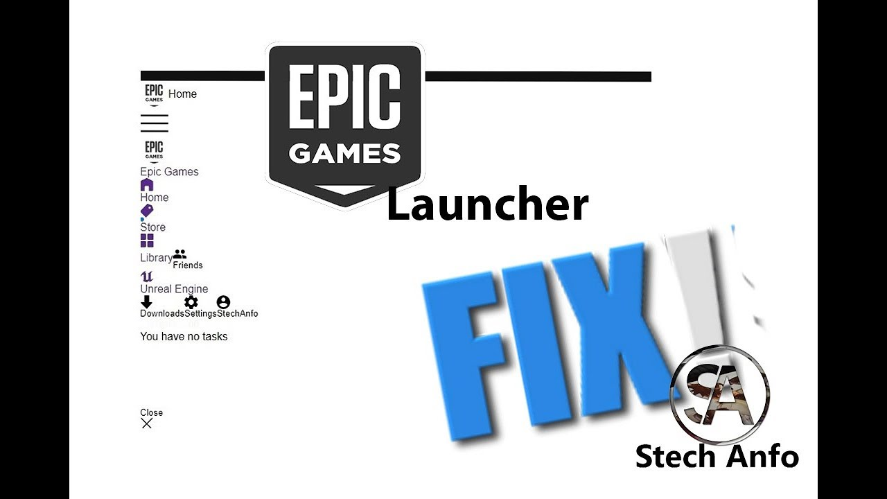 Epic Games Launcher Not Working Properly 2019 Solution / Epic Games  Launcher White Screen Fix 😎