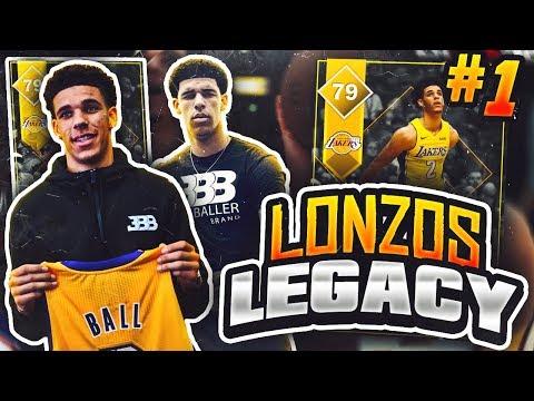 LONZOS LEGACY #1 - START OF NEW SERIES! NBA 2K18 MYTEAM!!