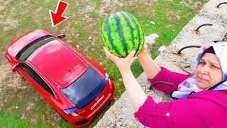 Watermelon Prank ! & Ayse's Watermelon Jokes in Kerem's Car, Funny Video